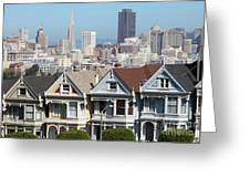 Painted Ladies Of Alamo Square San Francisco California 5d27996v2 Greeting Card