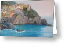 Painted Ladies Of Manarola Greeting Card