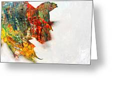 Painted Leaf Abstract 1 Greeting Card