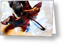 Painted Leaf Series 2 Greeting Card