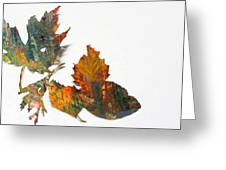 Painted Leaves Abstract 1 Greeting Card