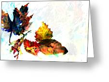 Painted Leaves Abstract 2 Greeting Card