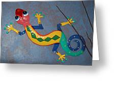 Painted Lizard Greeting Card
