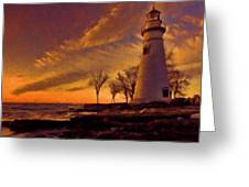 Painted Marblehead Lighthouse Greeting Card