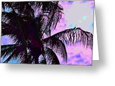 Painted Palms 4 Greeting Card