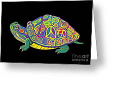 Painted Peace Turtle Too Greeting Card