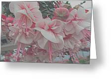 Painted Pink Fushia Greeting Card