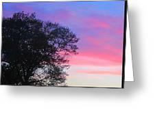 Painted Pink Sky Greeting Card