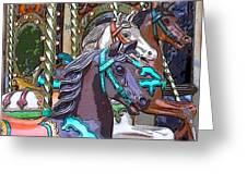 Painted Ponies Greeting Card