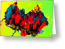 Painted Poppies Greeting Card