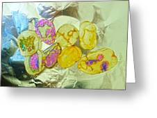 Painted Potato Chips Greeting Card