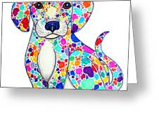 Painted Puppy Greeting Card