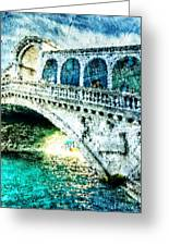Painted Rialto Greeting Card