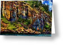 Painted Rock - Flathead Lake Greeting Card