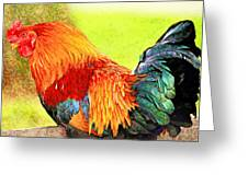 Painted Rooster Greeting Card