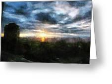 Painted Skies 01 Greeting Card