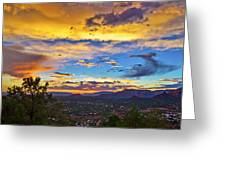 Painted Sky's Over Sedona Greeting Card
