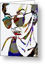 Painted Sunglasses Greeting Card