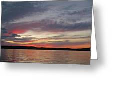 Painted Sunset On Gunflint Lake Greeting Card