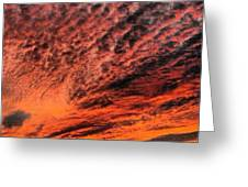 Painted Sunset Greeting Card