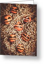 painted tangerines for Halloween Greeting Card