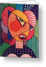 Painted Woman Greeting Card