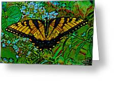 Painted Yellow Swallowtail Greeting Card