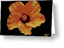 Painter Hibiscus Greeting Card