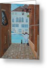 Painter In Venice Greeting Card