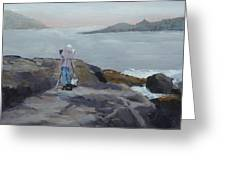 Painter Of The Sea - Art By Bill Tomsa Greeting Card