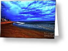 Painterly Beach Scene Greeting Card