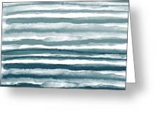 Painterly Beach Stripe 1- Art By Linda Woods Greeting Card