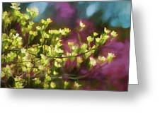 Painterly Dogwood Greeting Card