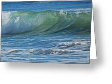 Painterly Waves Greeting Card