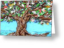 Painters Palette Of Tree Colors Greeting Card