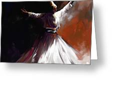 Painting 716 1 Sufi Whirl II Greeting Card