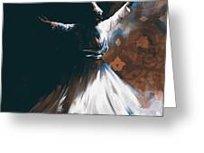 Painting 716 4 Sufi Whirl 2 Greeting Card