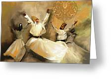 Painting 717 2 Sufi Whirl 3 Greeting Card