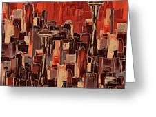 Painting 773 1 Seattle Skyline Greeting Card
