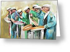 Painting 800 1 Hunzai Musicians Greeting Card