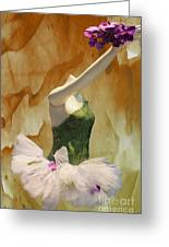 Painting A Ballet Dream Greeting Card