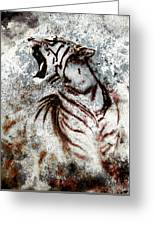 Painting Abstract Tiger Collage On Color Abstract  Background  Rust Structure Wildlife Animals Greeting Card