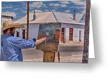 Painting Barrio Viejo Greeting Card