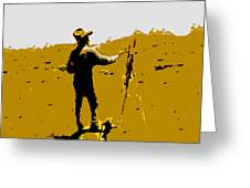 Painting Cowboy Greeting Card