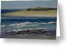 Painting Happy Valley Caloundra Qld Plein Air Painting Greeting Card