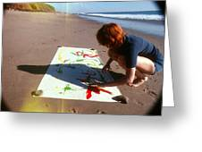 Painting In Sand Greeting Card