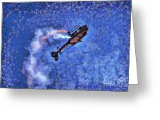 Painting Of Airbus Ec-120b Helicopter Greeting Card
