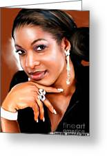painting of chika Ike Greeting Card
