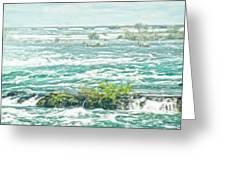 Painting Of Niagara Falls Greeting Card
