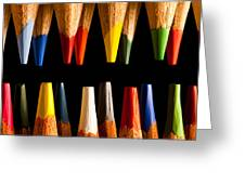 Painting Pencils Greeting Card